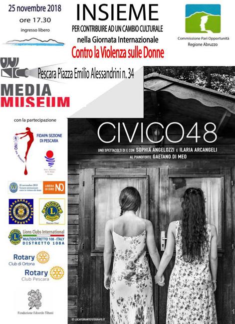 civico 48 Pescara 25 novembre 2018