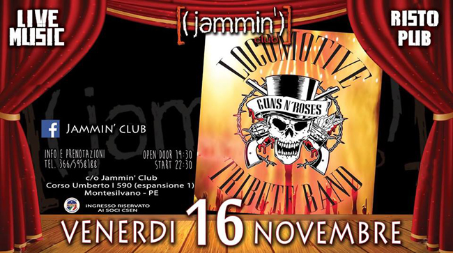 Locomotive Guns n'Roses 16 novembre 2018