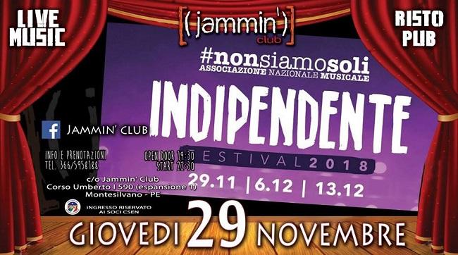 indipendente jammin 2018