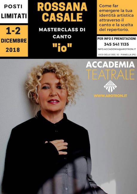 Rossana Casale master class Arotron