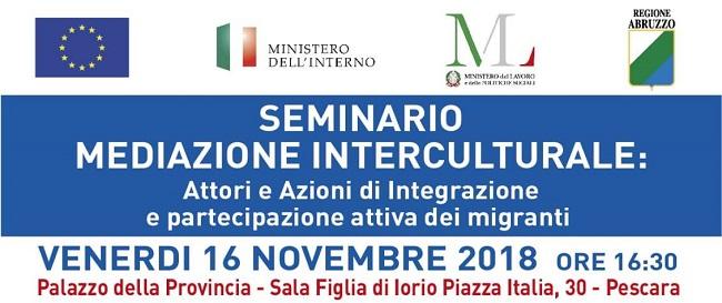 Pescara seminario mediazione interculturale 16 novembre 2018