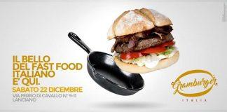 Lanciano, Gramburger: apre il primo fast food all'italiana