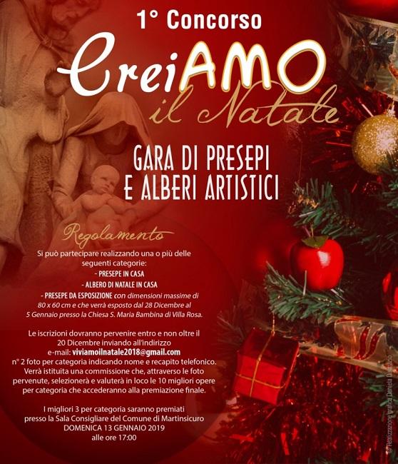 locandina 1° edizione del Concorso CreiAMO il Natale
