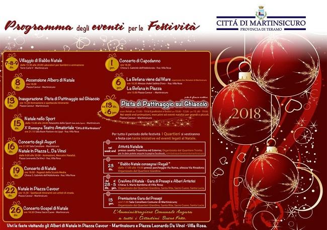 Martinsicuro, eventi Natale 2018: il programma