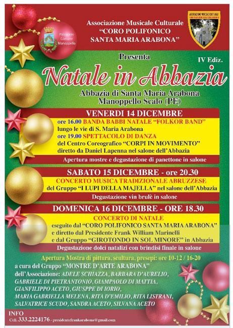 Manoppello Natale in Abbazia 2018