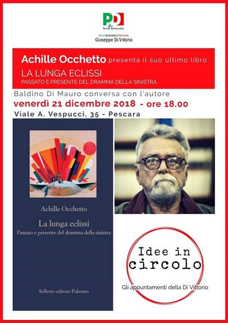 Pescara, Achille Occhetto presenta