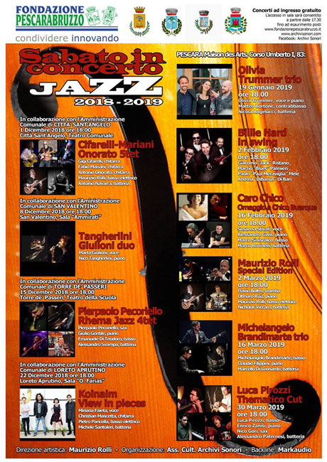 sabato in concerto jazz 2018 - 2019