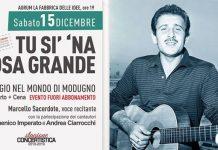 "La musica di Modugno in ""Tu sì na cosa grande"" all'Aurum"