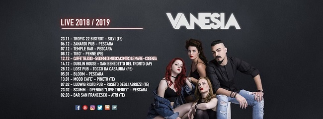 Vanesia winter tour 2018 2019