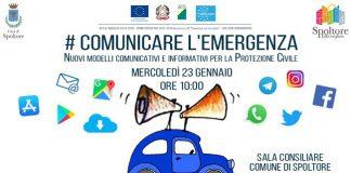 Spoltore comunicare l'emergenza locandina