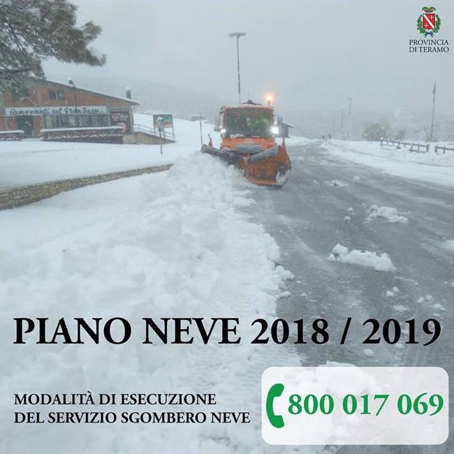 piano neve provincia Teramo 2018-2019