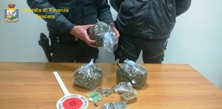 gdf Pescara, droga sequestrata