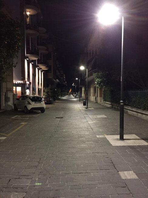 illuminazione notte led Pescara
