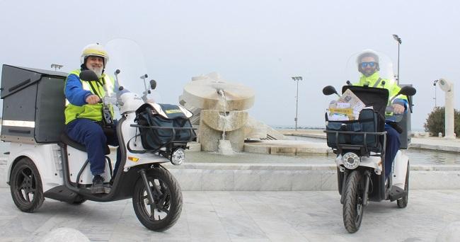 nuovi tricicli poste Pescara