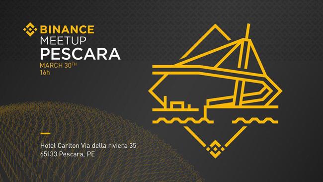 binance meetup Pescara 30 marzo 2019