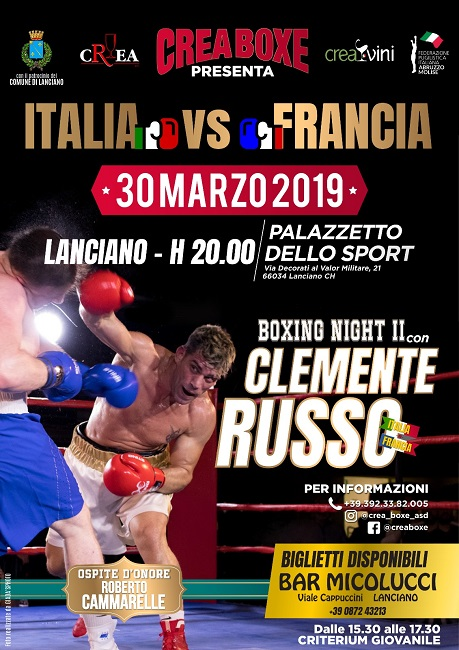 boxing night Clemente Russo 30 marzo 2019