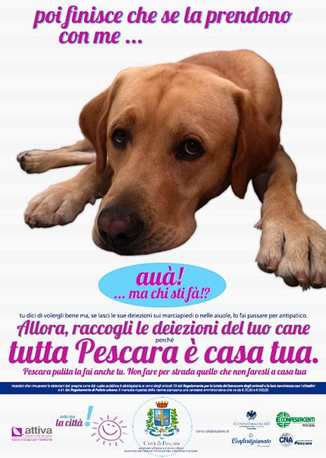 campagna deiezioni canine Pescara 2019