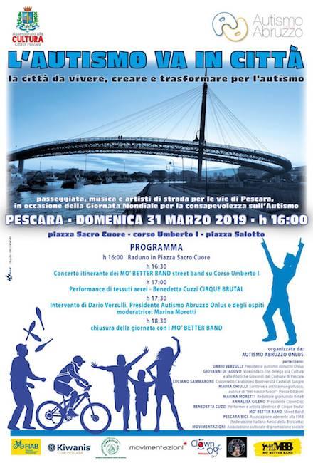 l'autismo va in città Pescara 31 marzo 2019