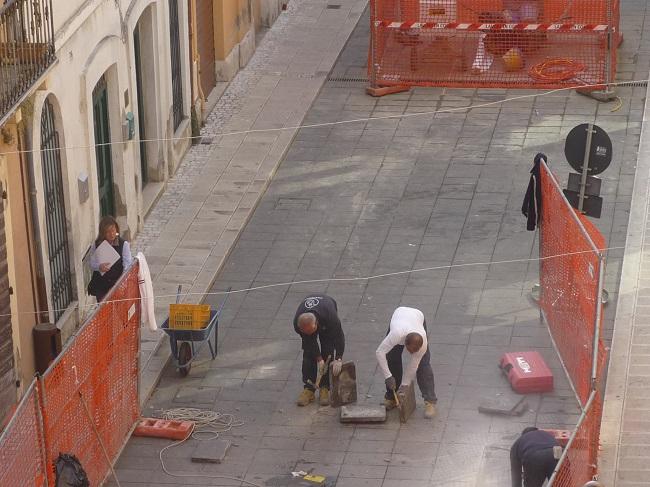 lavori su corso garibaldi Giulianova
