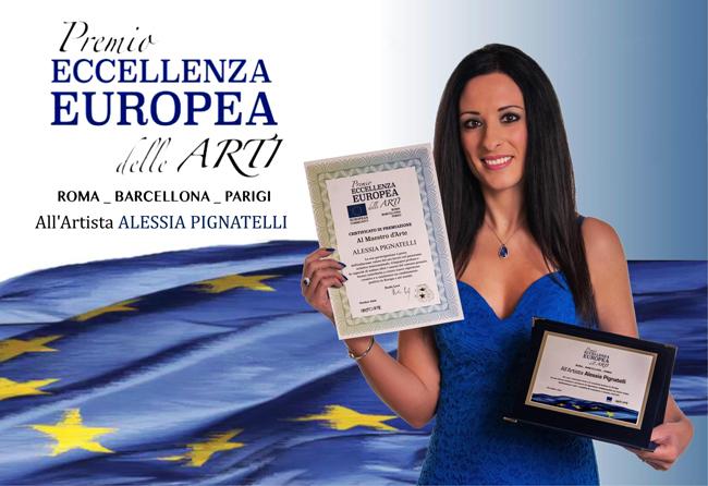 Alessia Pignatelli Premio Eccellenza Europea delle Arti