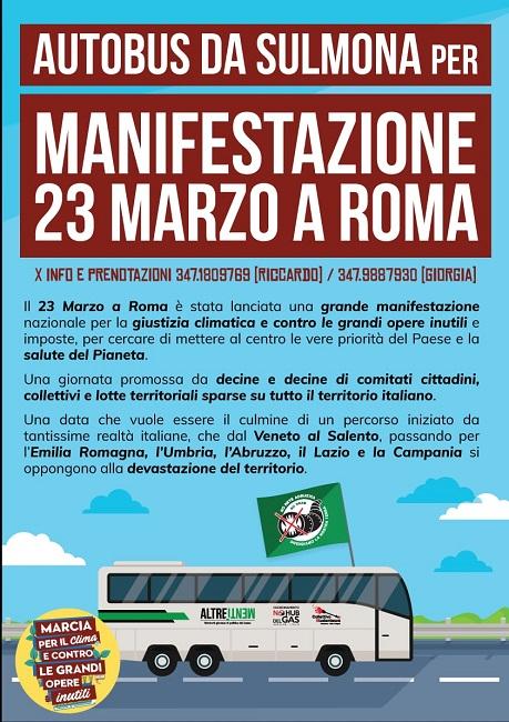 pullman sulmona roma 23 marzo 2019