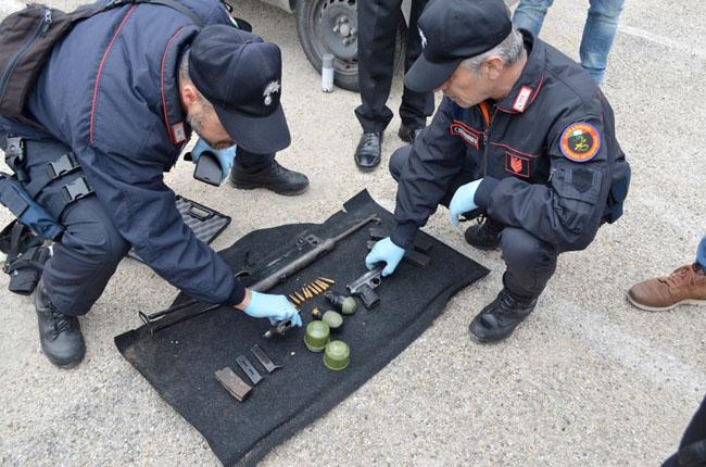recupero armi Carabinieri