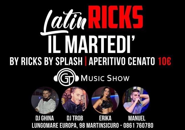 ricks by splash martedi
