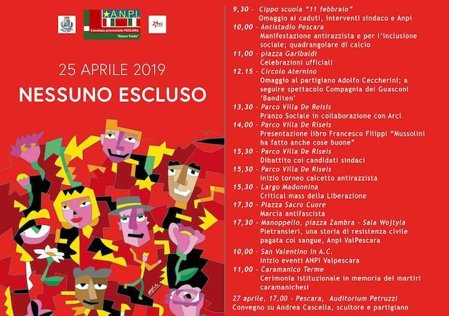 anpi 25 aprile 2019 Pescara