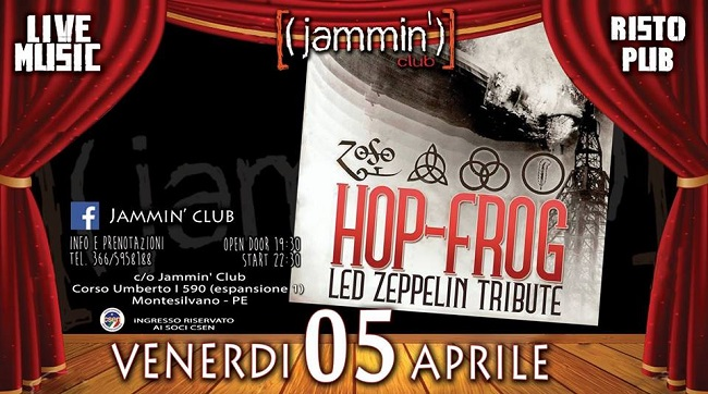 jammin club 5 aprile