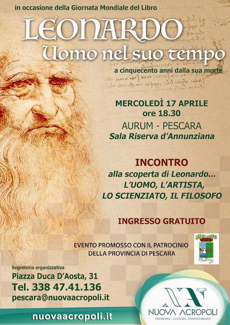 Leonardo, uomo nel suo tempo: incontro all'Aurum di Pescara