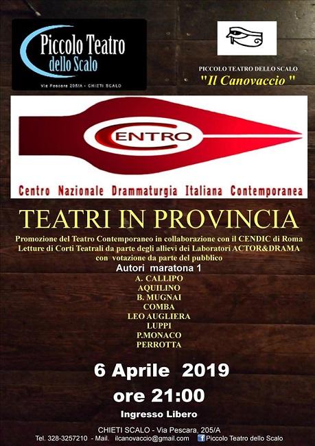 teatri in provincia 6 aprile 2019