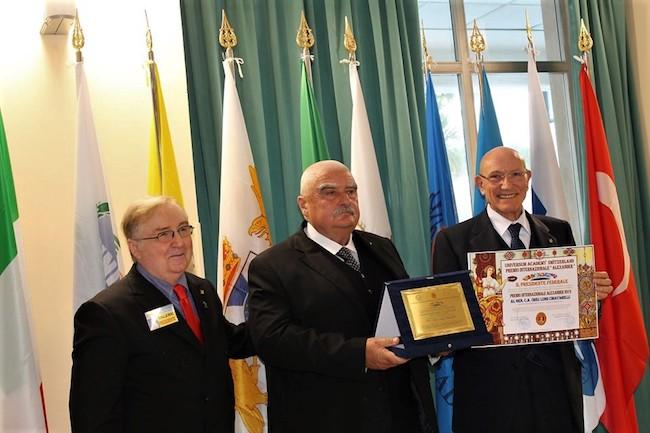 il presidente Ruberto con il Gen. Luigi Chiavarelli e il Gen. Leonardi Prizzi