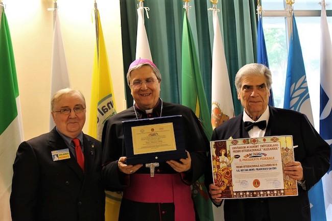 presidente Ruberto, con Mons. Francesco Savino e Alfredo Percacciante