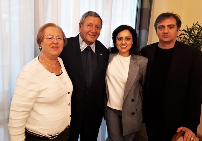 Mario Daniele con famiglia Zimei
