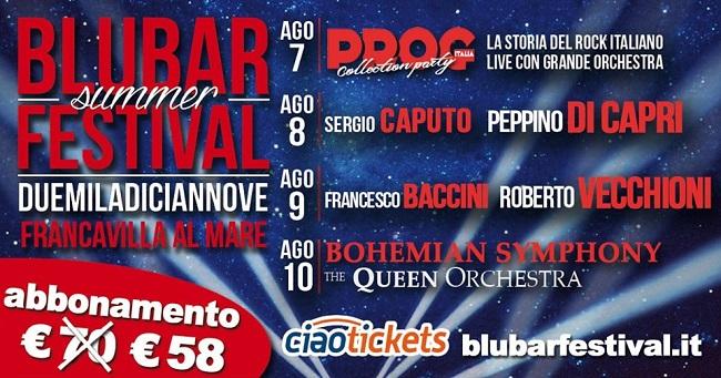 Blu Bar Festival 2019: cantanti, date e orari