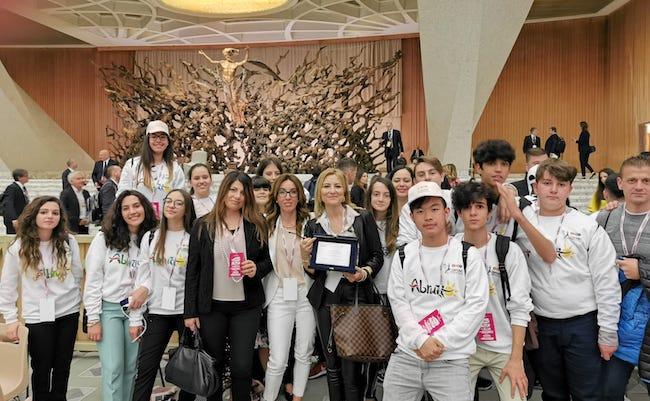 classe vincitrice con ds Manuela Divisi a Roma