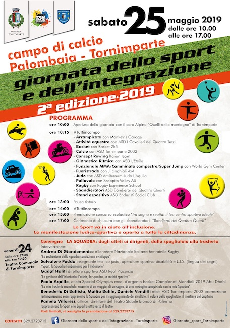 giornata sport integrazione 2019 Tornimparte