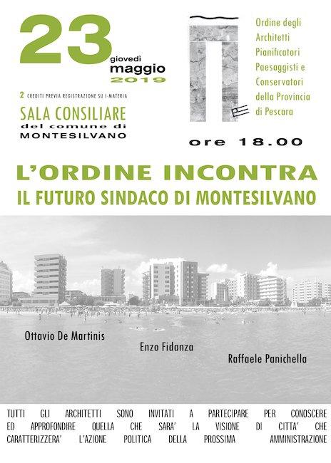 incontro sindaci Montesilvano architetti 23 maggio 2019