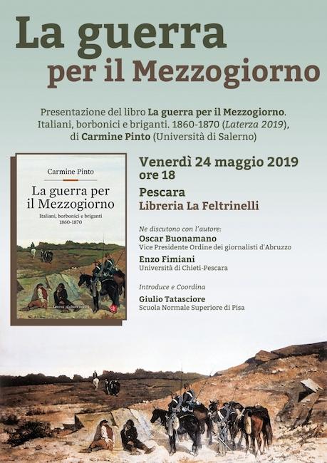 la guerra per il mezzogiorno-Carmine Pinto 24 maggio 2019