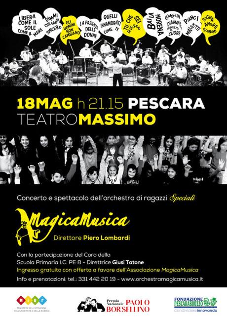 Orchestra Magica Musica a Pescara per il Premio Paolo Borsellino