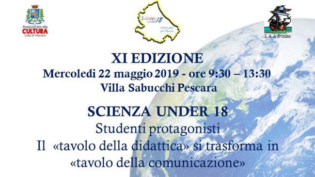 scienza under 18 Pescara 2019