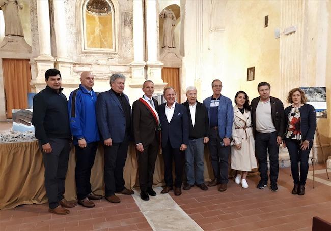visita delegazione Hamilton L'Aquila