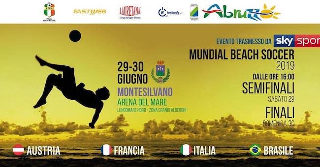beach soccer Montesilvano 29-30 giugno 2019