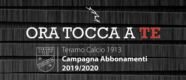 campagna abbonamenti Teramo 2019-2020