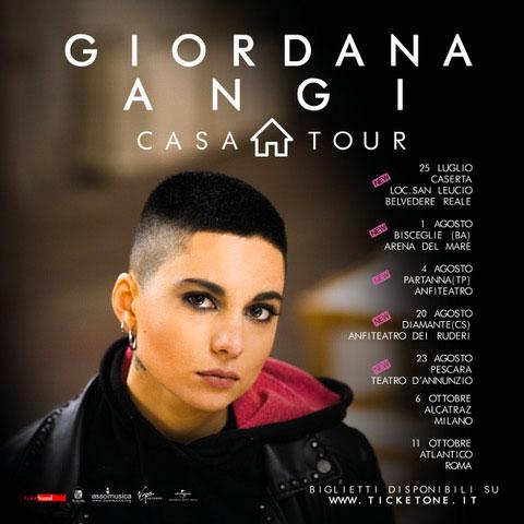 Giordana Angi locandina tour 2019