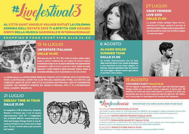 Città Sant'Angelo Village, gli eventi estate 2019 #Livefestival3