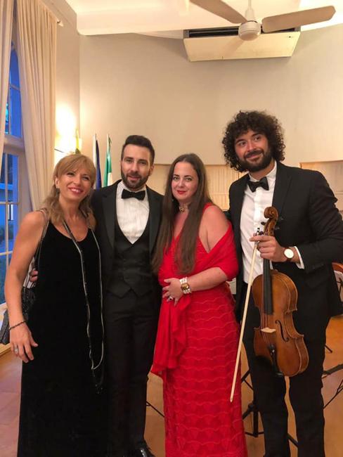 Lela Mtchedlidze, Jacopo Sipari, Allegra Baistrocchi e Alessandro Zerella