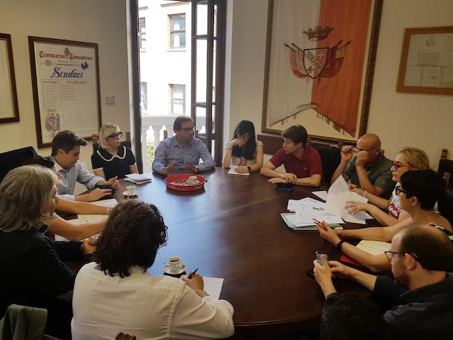 riunione ricostruzione scuole Teramo