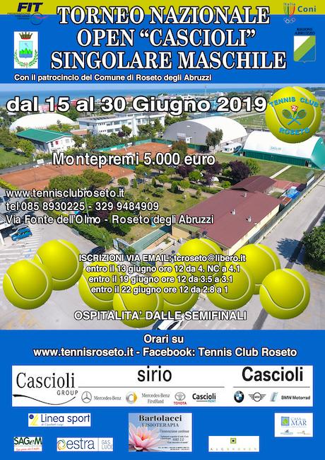 torneo open cascioli roseto 2019