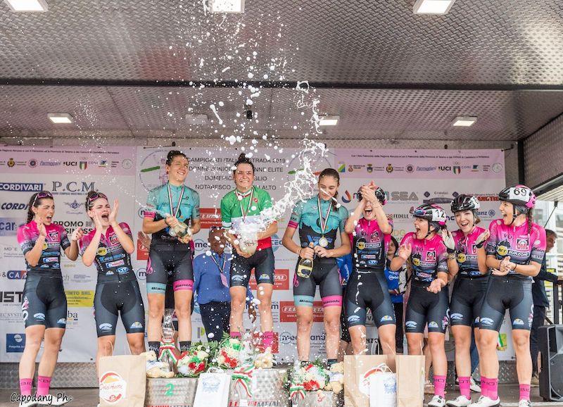 Eleonora Gasparrini nuova campionessa italiana juniores di ciclismo su strada